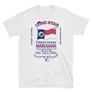 Mens - Texas Lone Star Marijuana Short Sleeve Shirt