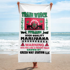 Train Wreck Beach Towel