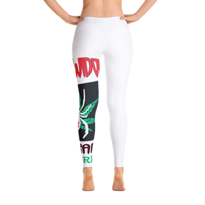 Womens Yoga Pants - White Widow