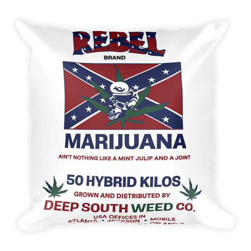 Rebel Marijuana - Square Pillow