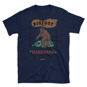 Mens - Big Foot Marijuana Short Sleeve Shirt