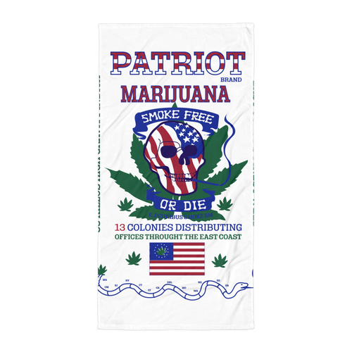 Patriot Marijuana - Beach Towel