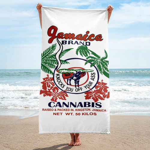 Jamaican Brand Cannabis - Beach Towel