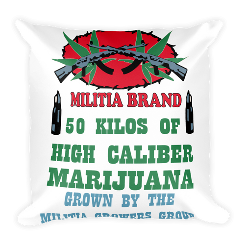 AK47 Marijuana - Square Pillow