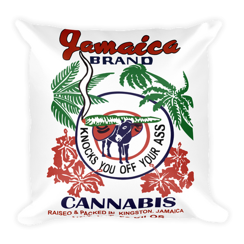 Jamaican Brand Cannabis - Square Pillow