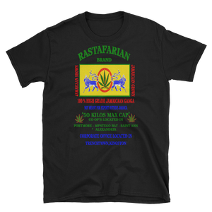 Mens - Rastafarian Marijuana Short Sleeve Shirt