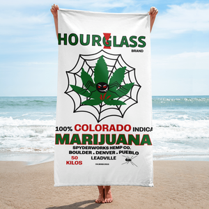 Hourglass Marijuana - Beach Towel