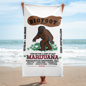 Bigfoot Marijuana - Beach Towel