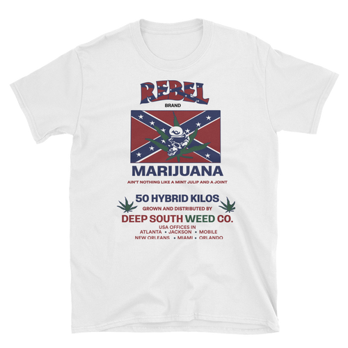 Mens - Rebel Marijuana Short Sleeve Shirt