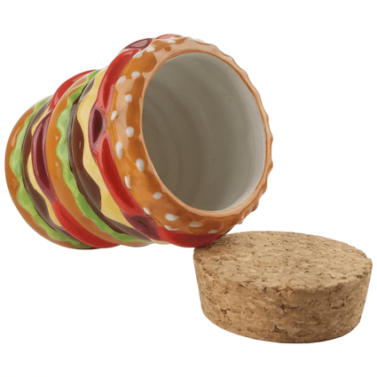 "CERAMIC ""Roast & Toast Stash Jar """