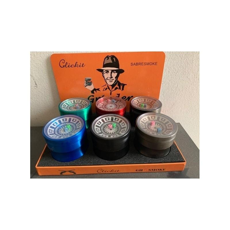 MG048-CLICKIT SHARPSTONE TOBACCO GRINDER - 6/BOX