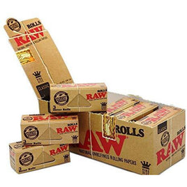 Raw Rolls Classic Rolling Paper King Size 55mm 3 Meter (9') Full Box of 12 Pack