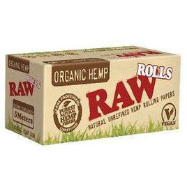 RAW Organic Hemp Natural Unrefined Rolling Paper Rolls 5 Meter Roll (1 Roll