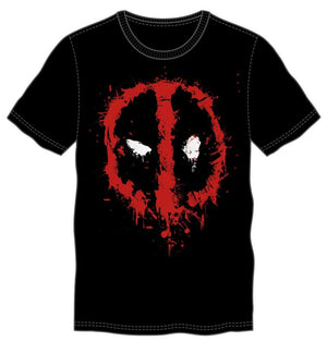 Marvel Comics Deadpool Graffiti Mask Men's Black T-Shirt