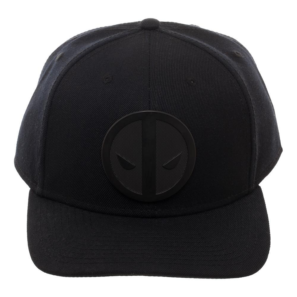 Deadpool Insignia Ball Cap, Marvel Anti-Hero Black Patch Logo, Dad Hat