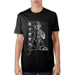 Mega Man Grid Adult Male Crew T-Shirt