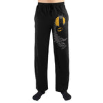 DC Comics Batman Head Bat Leg Print Mens Lounge Pants