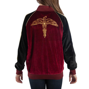 Harry Potter Bomber Jacker Velour Harry Potter Jacket Raglan Sleeve Harry Potter Coat - Harry Potter Gift Harry Potter Apparel