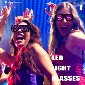 Rechargeable LED Light Glasses