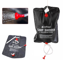 SOLAR HEATED CAMPING SHOWER