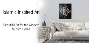 Beautiful Islamic Art for the Modern Muslim Home.