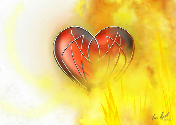 Conflict of the Knotted Heart. ©Ian Garrett 2010, Digital Painting. Varying Sizes.