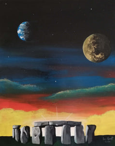 Stonehenge, ©Ian Garrett 2020. Acrylic on Canvas 20 x 16 inches.
