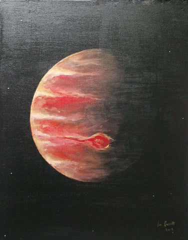 Jupiter, ©Ian Garrett 2019. Acrylic on Canvas 20 x 16 inches.