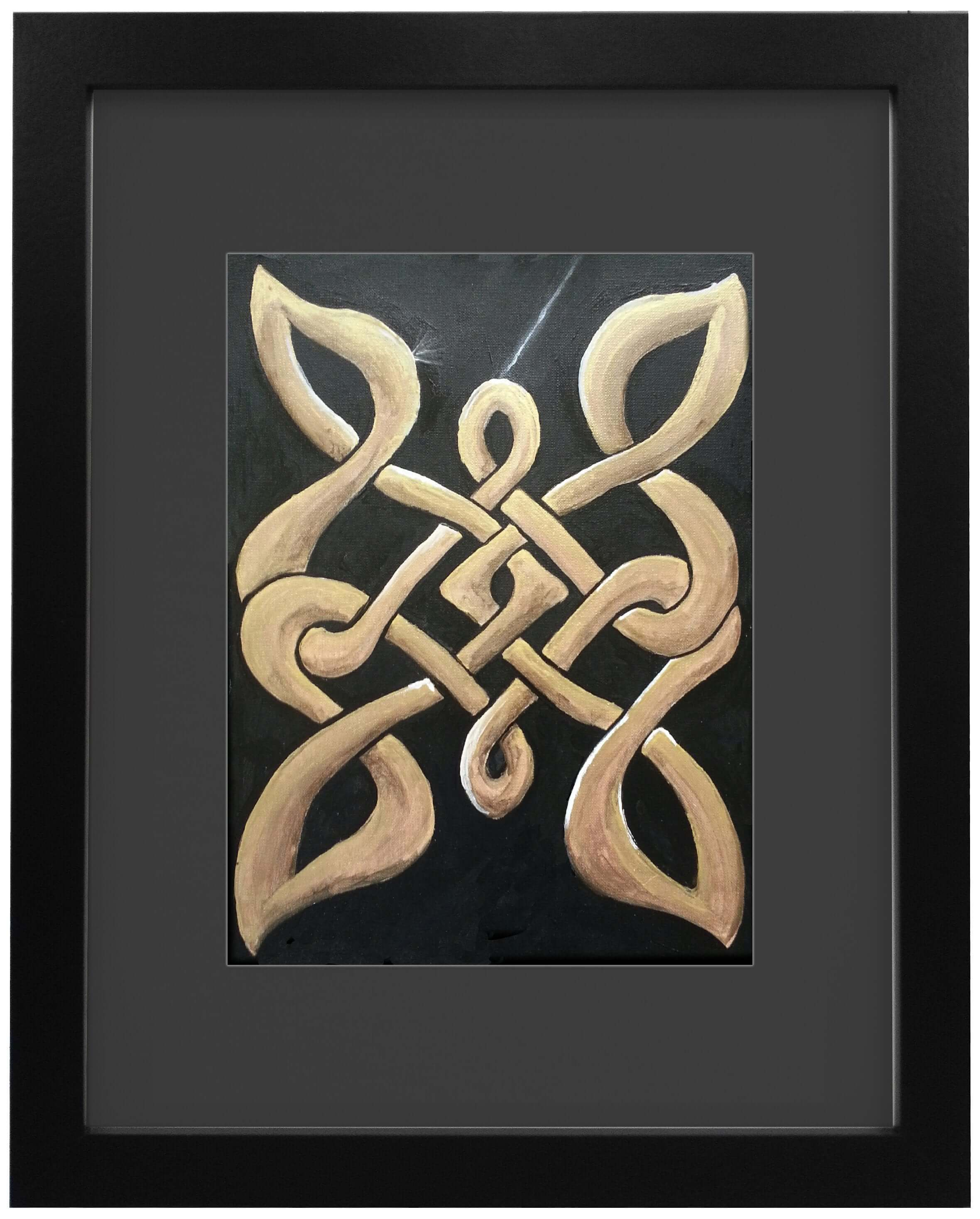 "Ian Garrett Designs physical Gold Knot. 2013 (12"" x 10"" Acrylic on Canvas.)"
