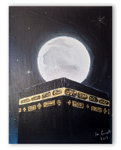 "Ian Garrett Designs physical Lailatul Qadr (Night of Power) 16"" x 12"" Acrylic on Canvas. 2013."