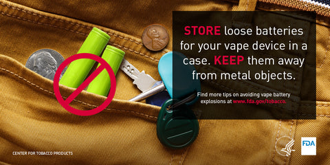 Carry Vaping Batteries Safely