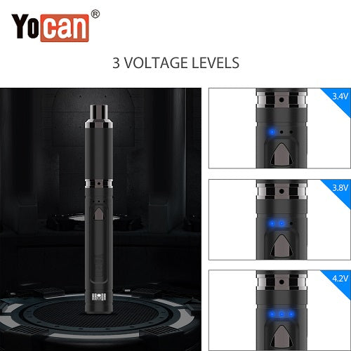 5 Yocan Armor Plus Variable Voltage Wax Pen Variable Voltage Levels Yocan America