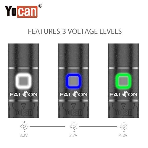 Yocan Falcom Wax and Dry Herb 6 In 1 Kit Variable Voltage Levels Yocan America