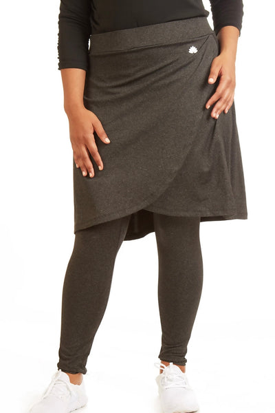 Ankle Length Faux Wrap Snoga in Black Heather