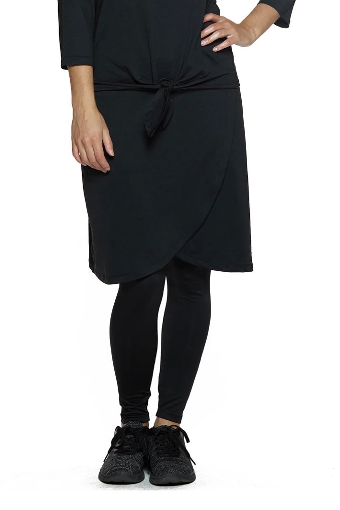 Ankle Length Faux Wrap Snoga in Black
