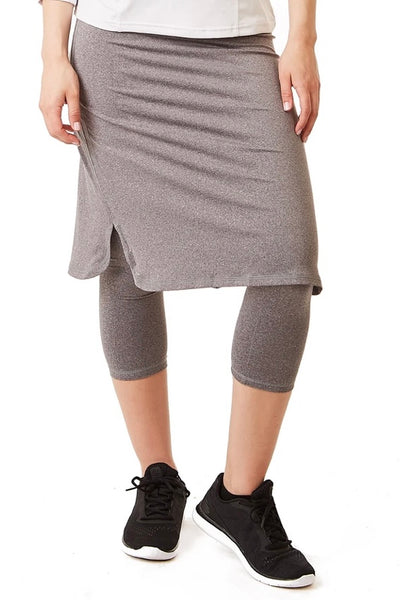 Cropped ShirtTail Heather Grey