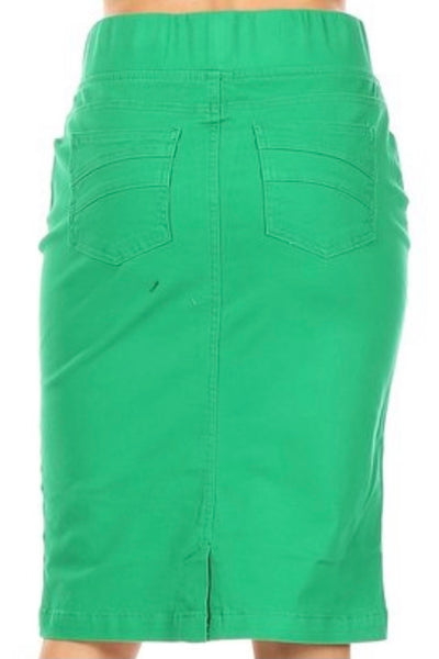 Summer Green Pull-on Style Skirt - Sizes 6-18