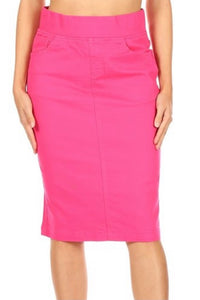 Fuchsia Pull-on Style Skirt - Sizes 6-18