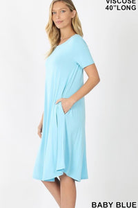 GiG Tee Dress - Baby Blue (S-XL)