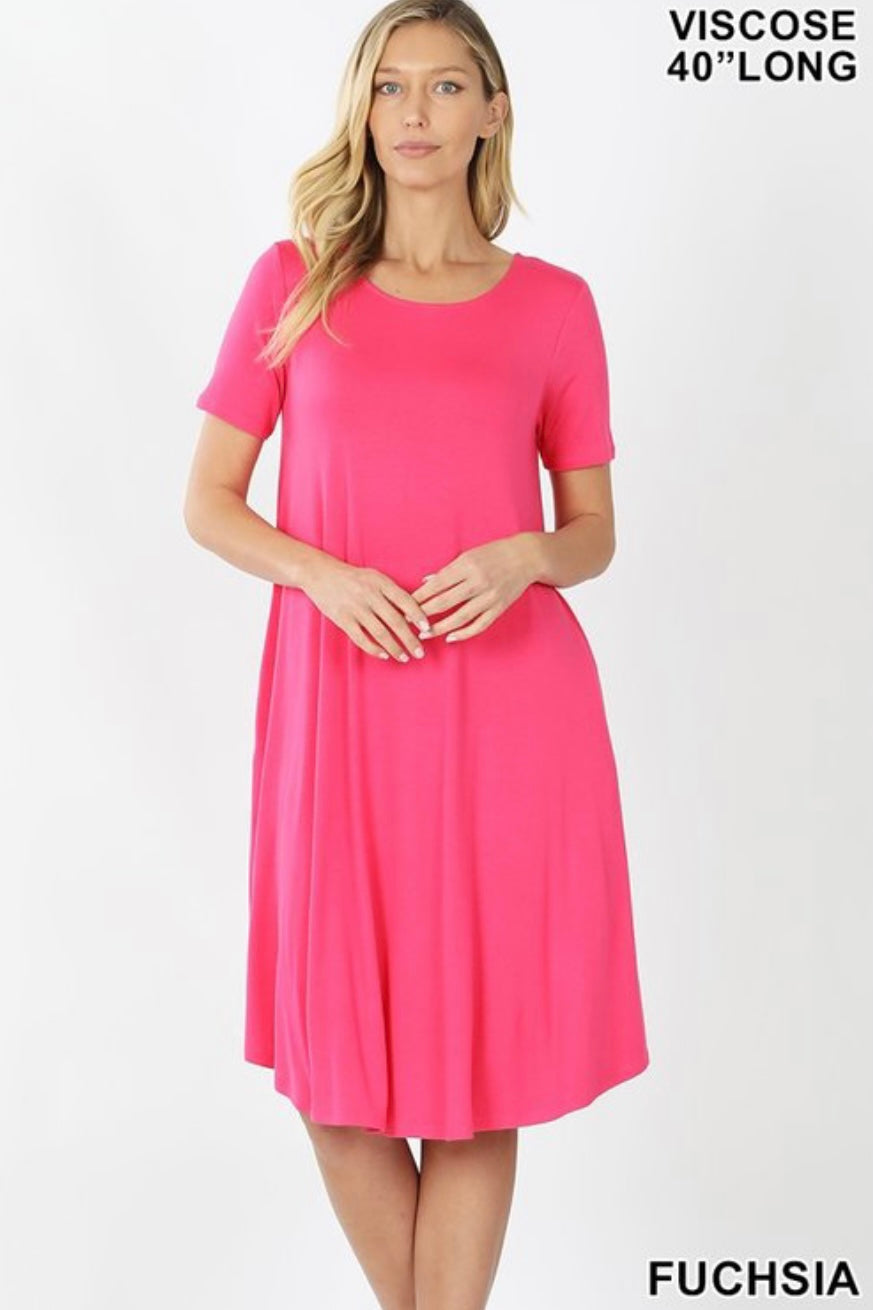 GiG Tee Dress - Fuchsia (S-XL)