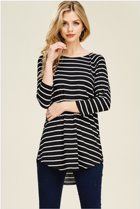 PLUS Black & White Casual Tunic