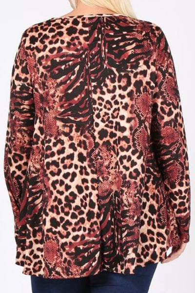 PLUS Rouge Leo Top