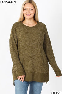 PLUS Popcorn Sweater (Olive)