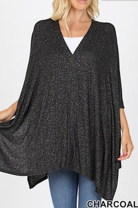 PLUS Charcoal Melange Poncho