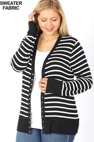 PLUS Striped Cardi