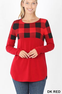 GiG Plaid Top (Red)