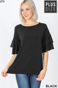 PLUS GiG Double Bell Tee- Black