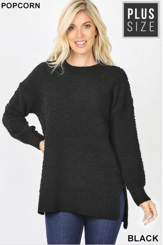 PLUS Popcorn Sweater (Black)