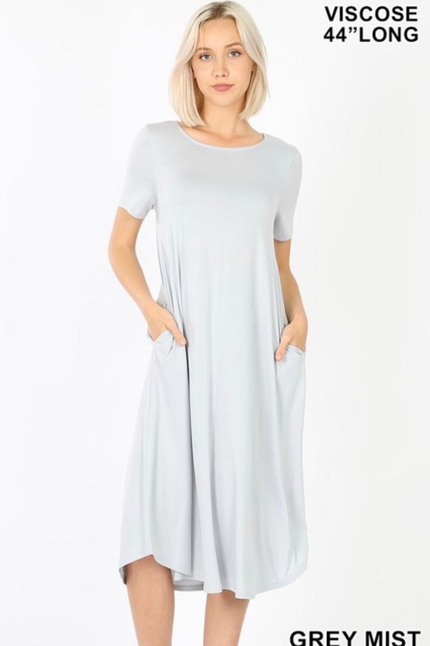 GiG Tee Dress - Grey Mist (S-XL)