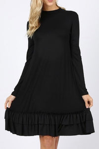 Ruffle Hem Swing Dress